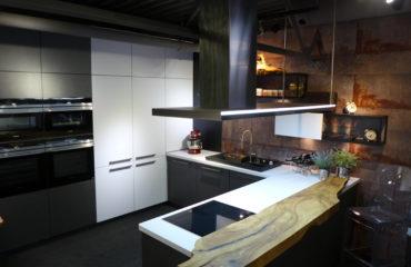 kuchnia w stylu loft - kolekcja metal nolte kuchen