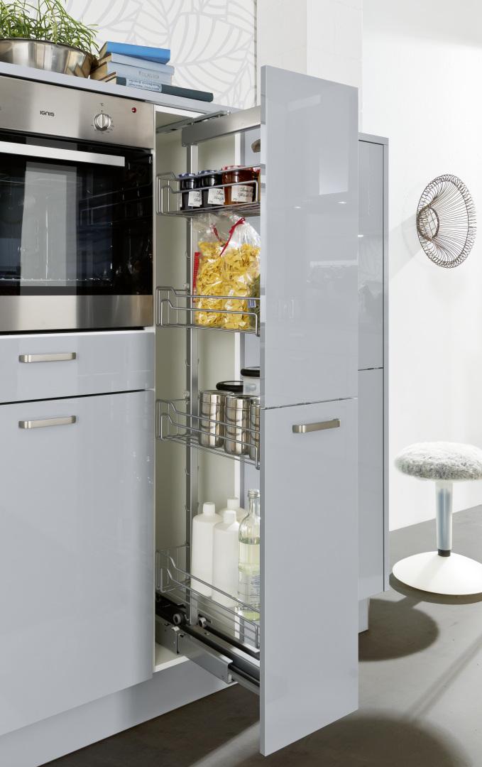 Nolte economic line Lyon szara kuchnia cargo wysokie