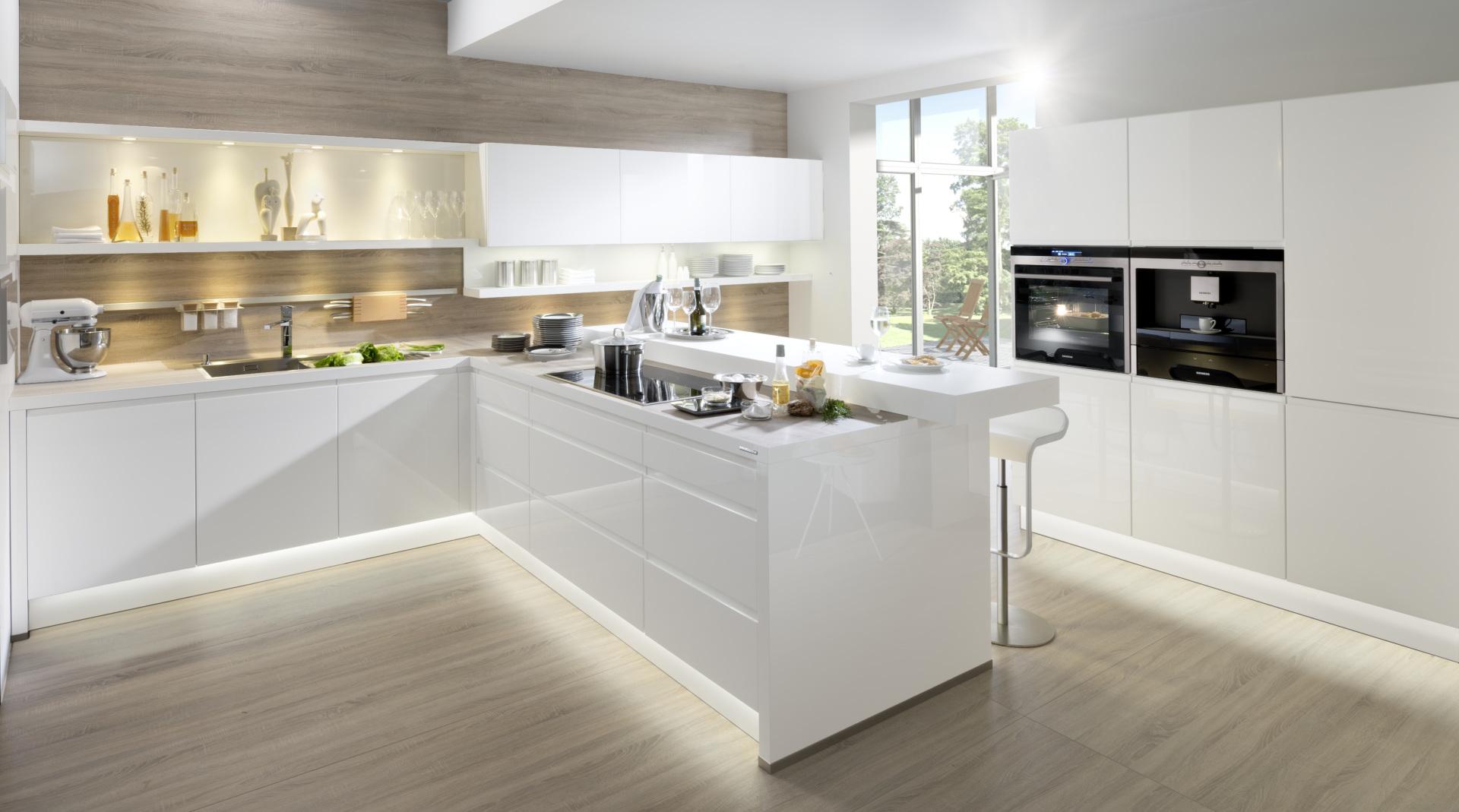 bezuchwytowa kuchnia alpha lack nolte kuchnie biały połysk