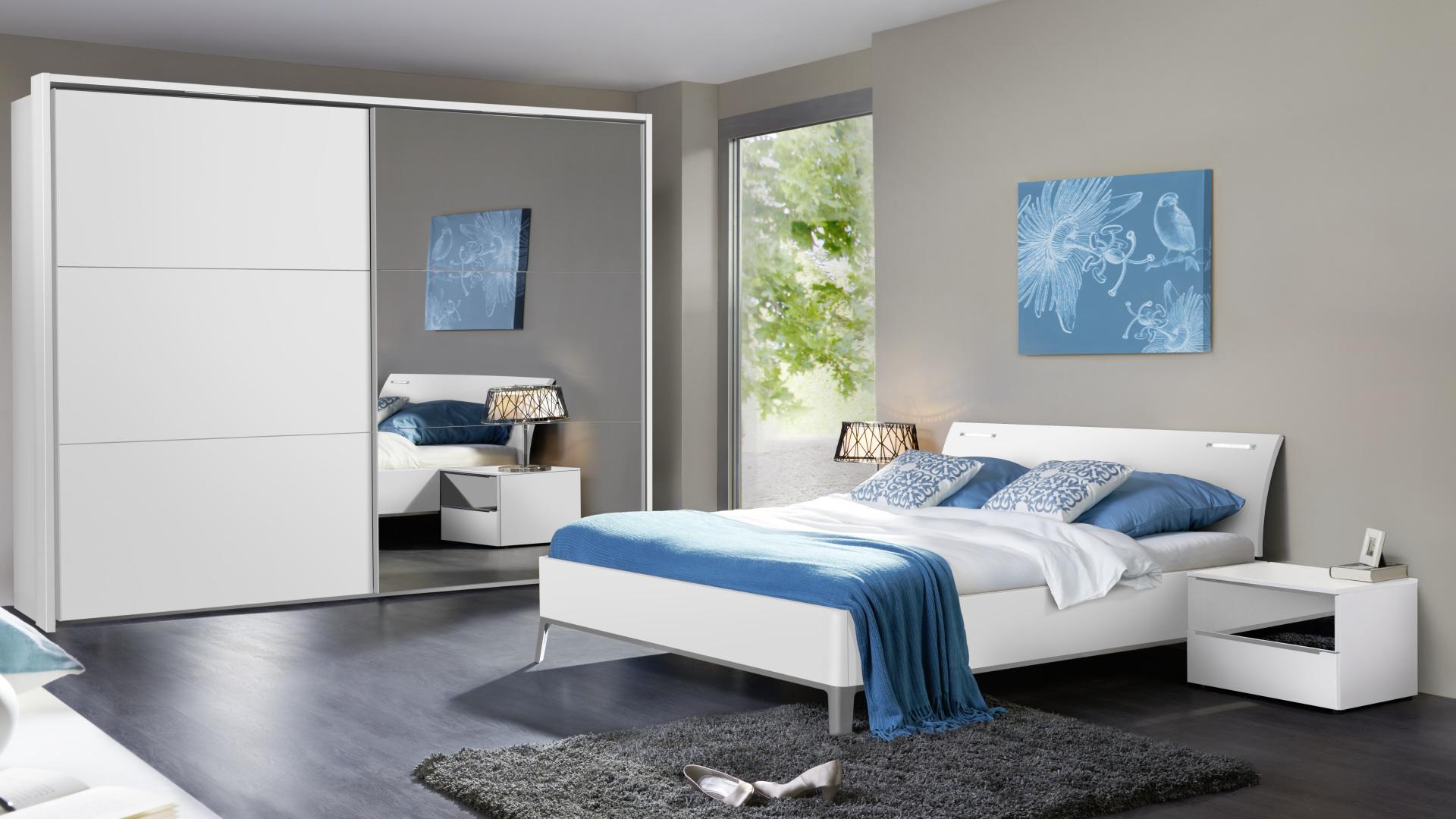 elegancka sypialnia z meblami nolte