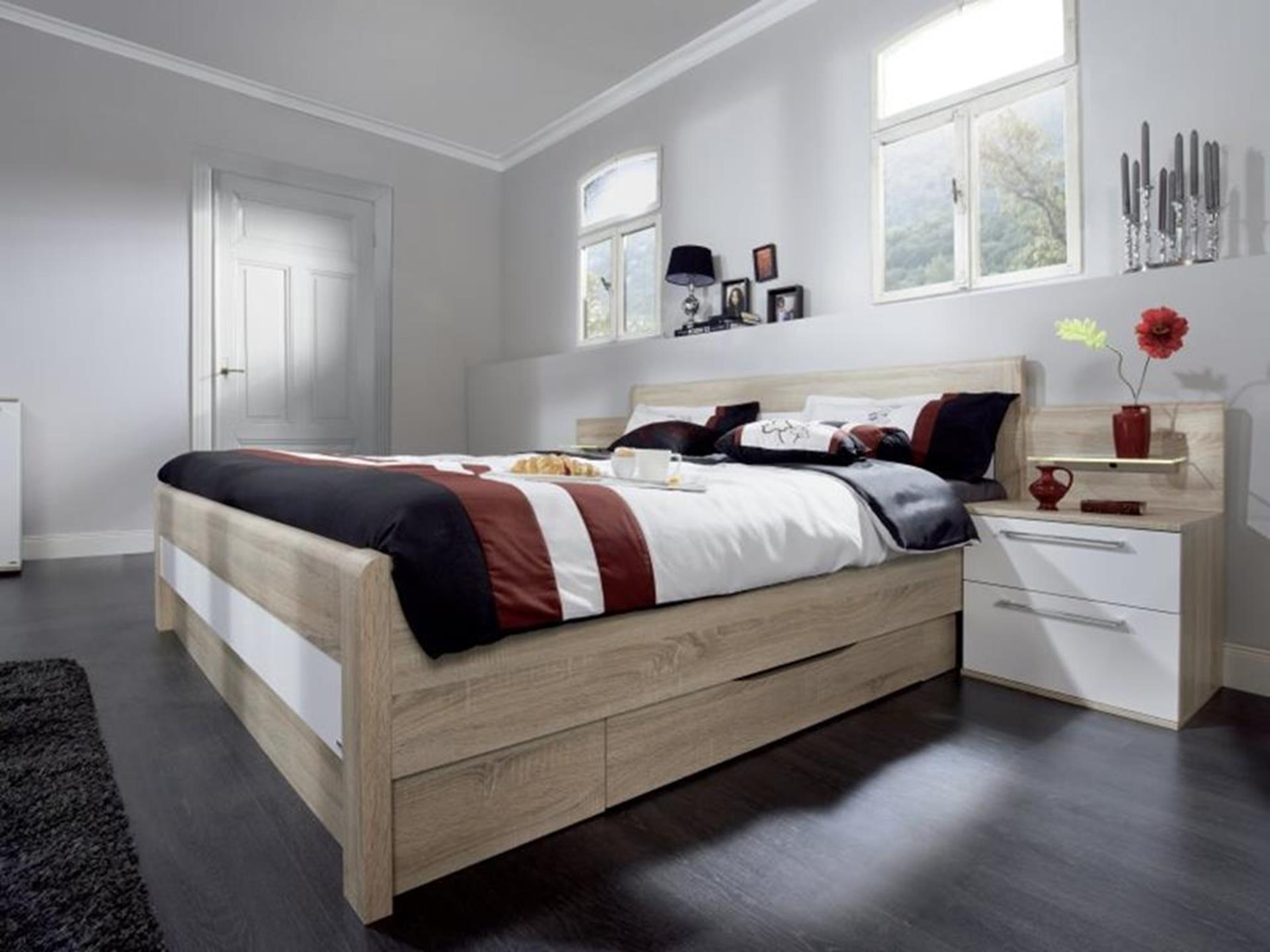 nowoczesne drewniane łóżko niemieckiego producenta