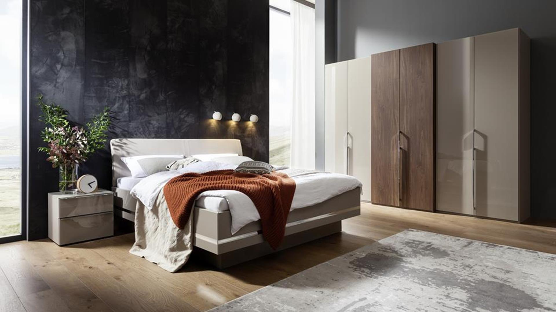 modne meble w sypialni, wyprodukowane w niemczech