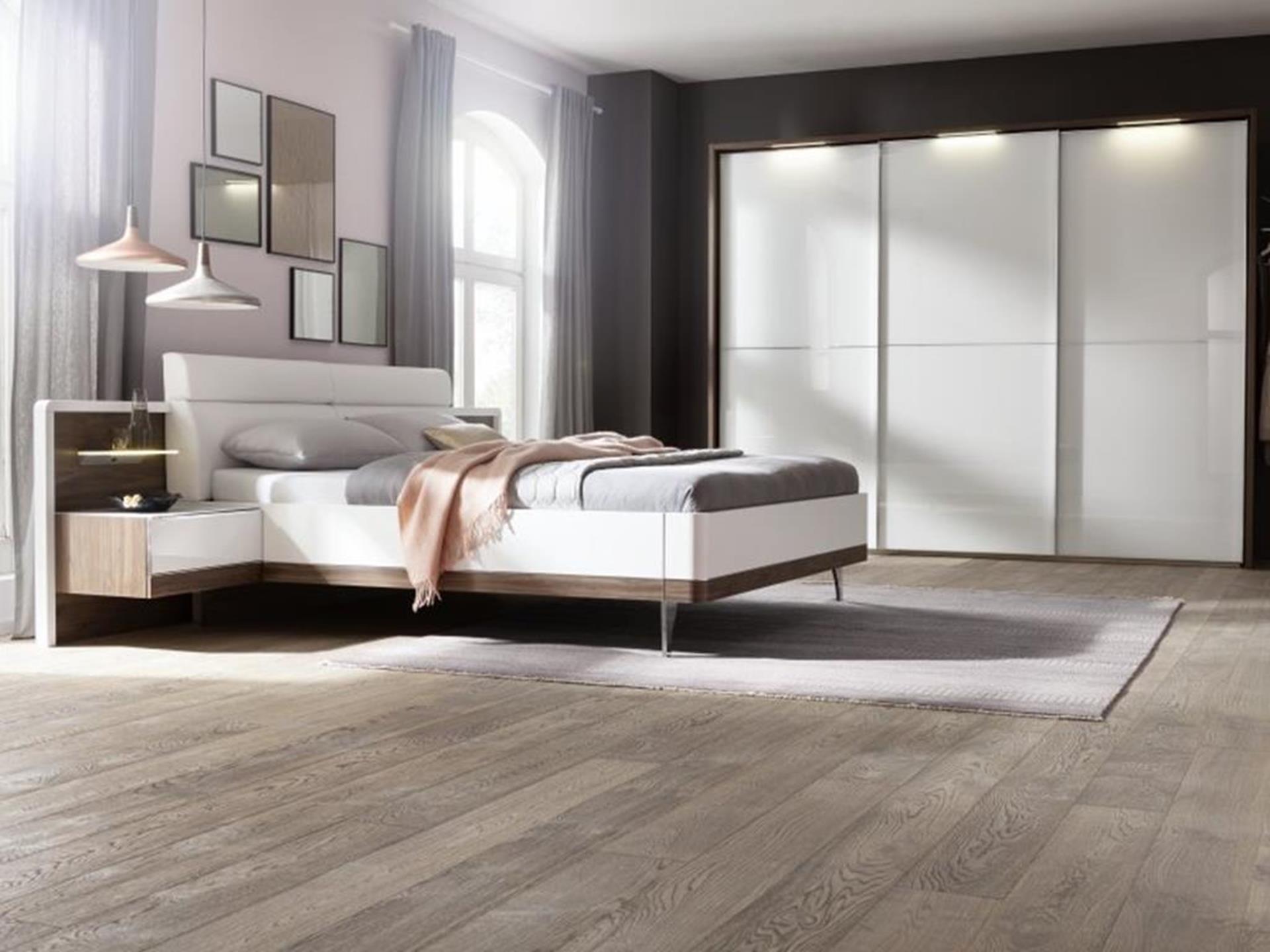 sypialnia w nowoczesnym stylu z meblami nolte