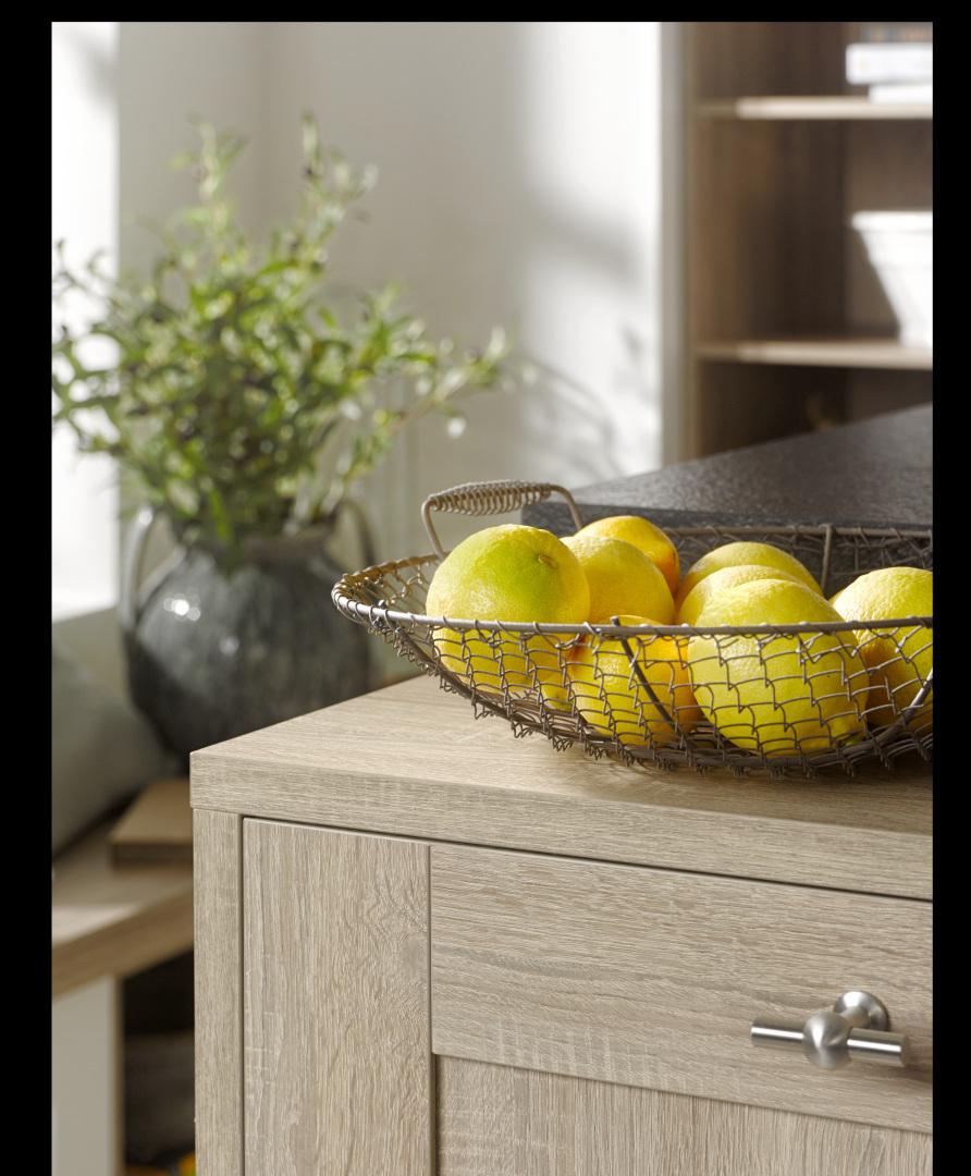 drewniana kuchnia z ramką nolte kuchen model vienna dąb kansas