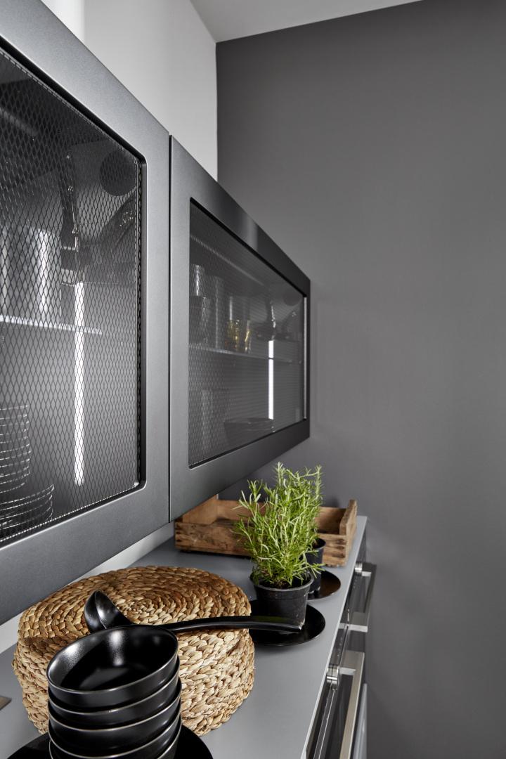 Witryny kuchenne w stylu loft
