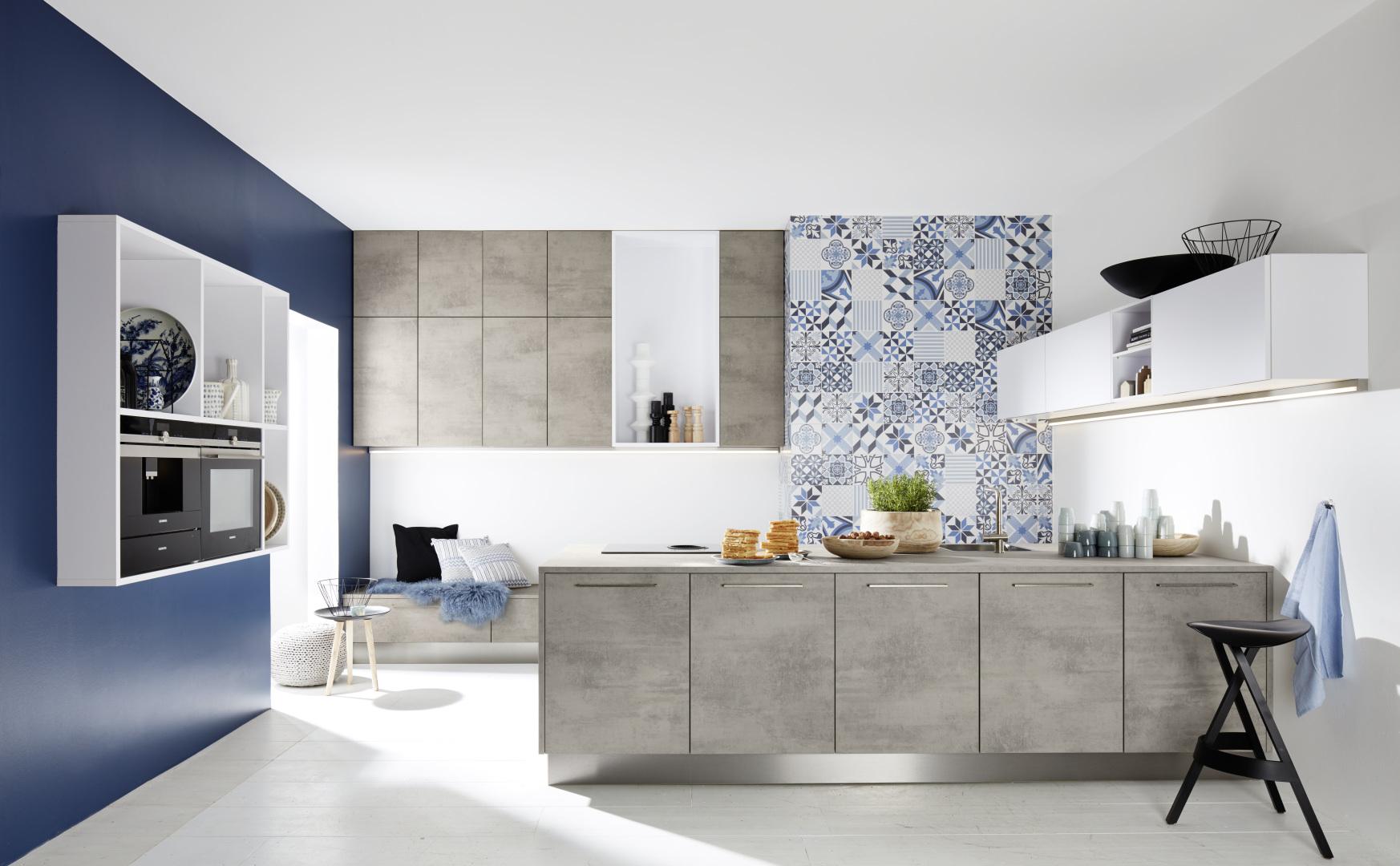 kuchnia z betonowymi elementami