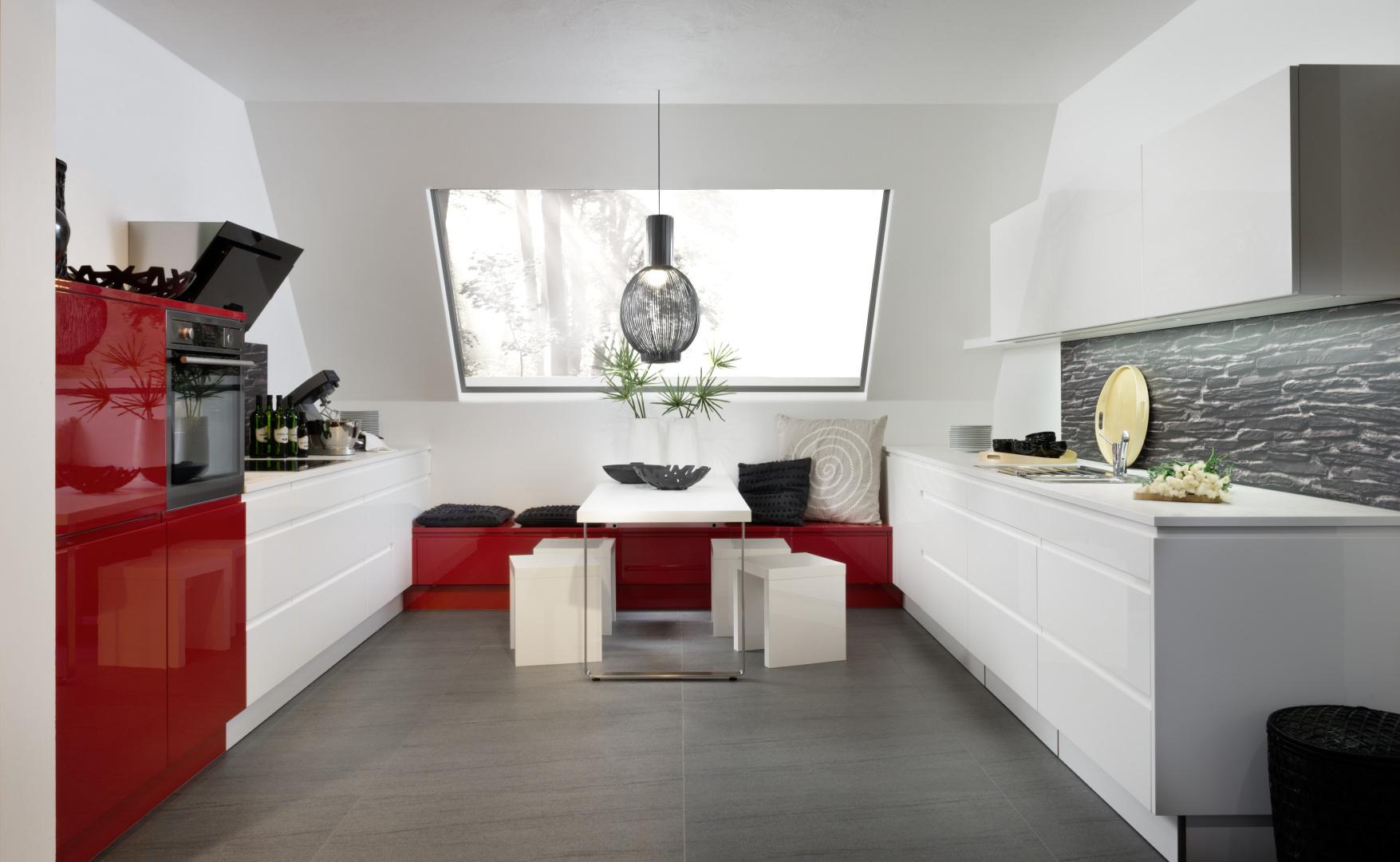 kuchnia alpha lack nolte kuchnie biały połysk czerwony połysk