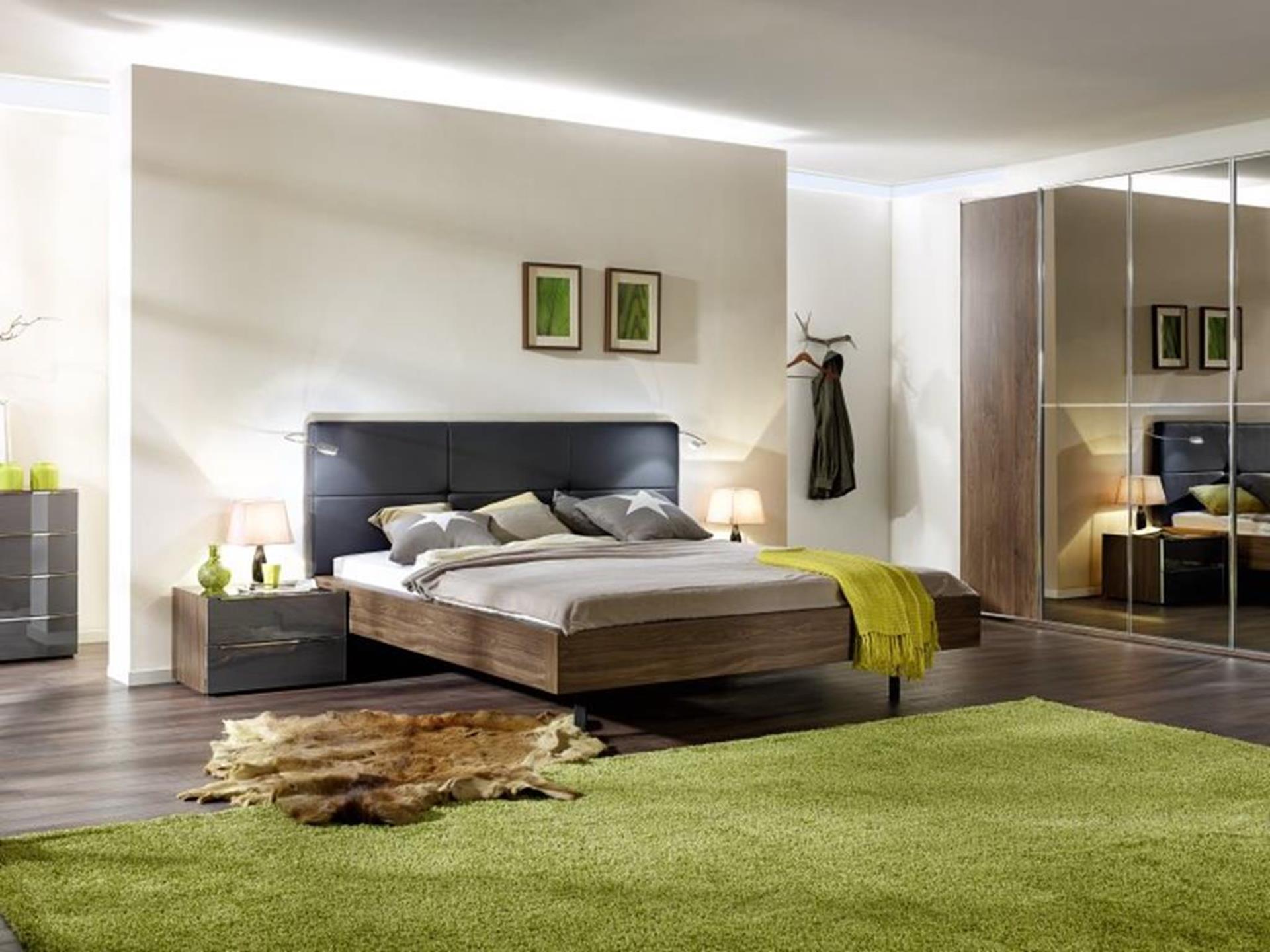 nolte sypialnia z łóżkiem i szafą