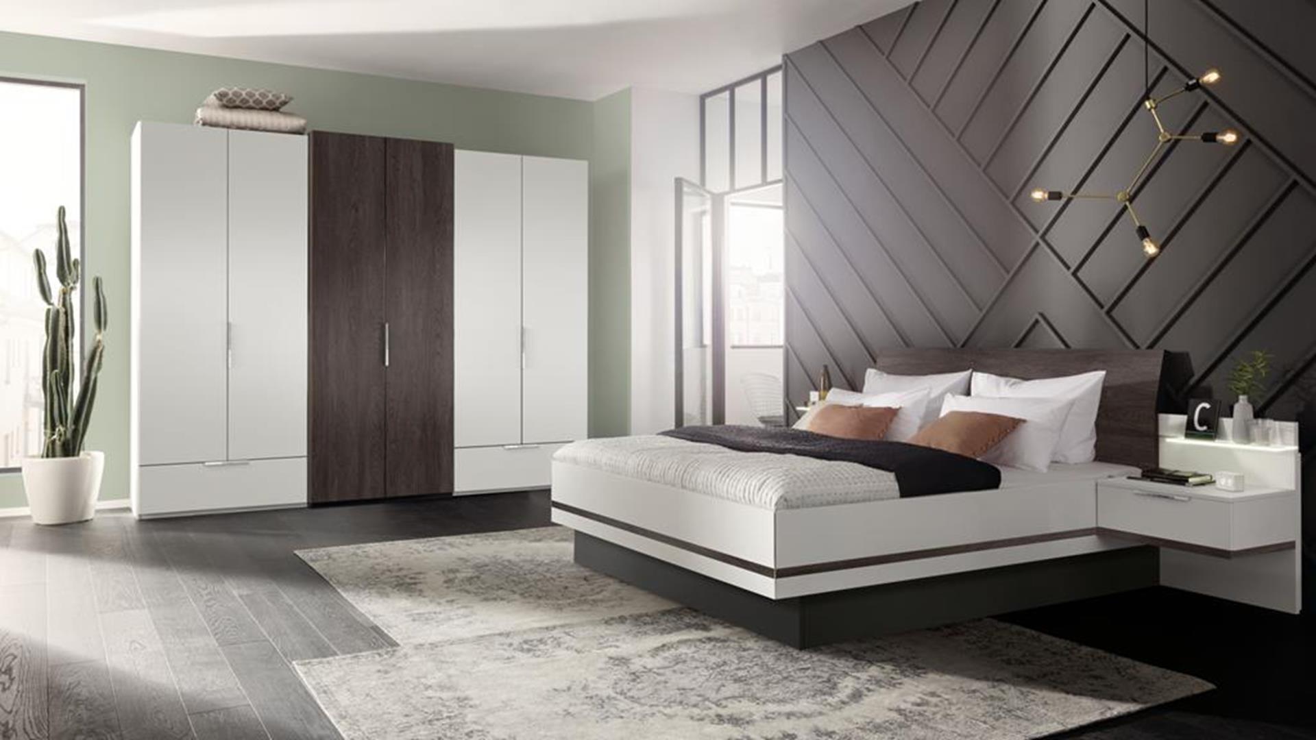 elegancka i nowoczesna sypialnia wyposażona w meble z 10 letnią gwarancją