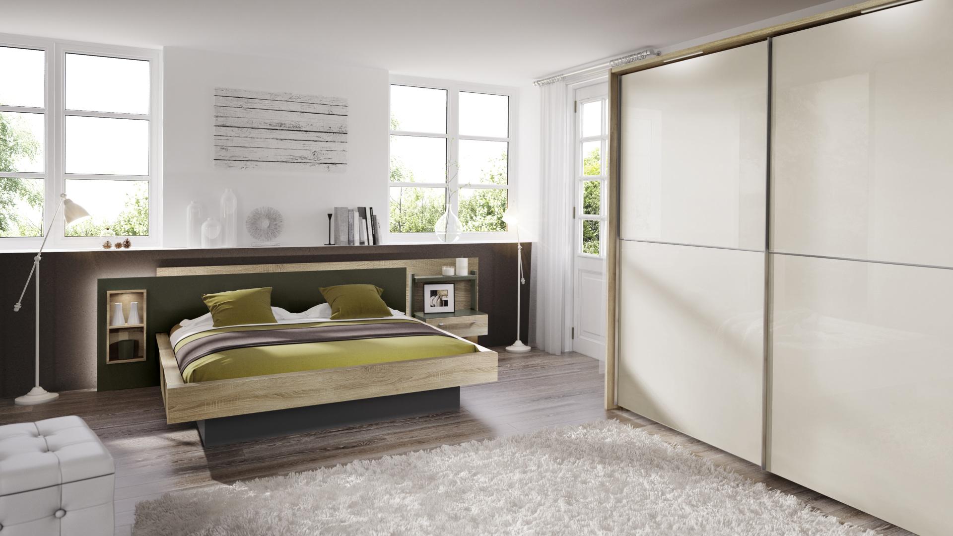 elegancka sypialnia z meblami wyprodukowanymi przez nolte