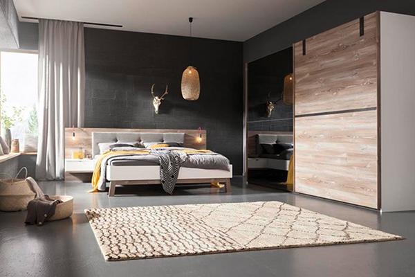 ekskluzywna szafa w eleganckiej sypialni
