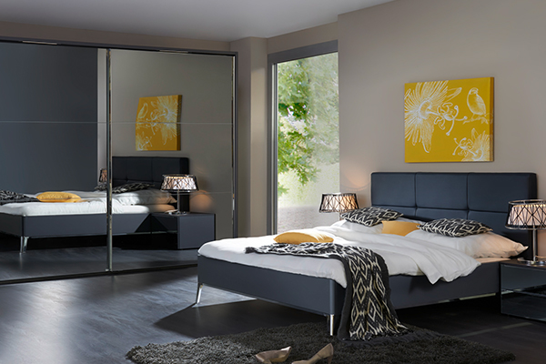 meble w eleganckiej sypialni