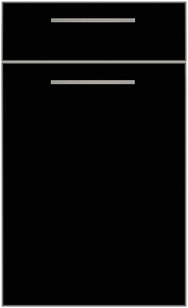 Nolte Kuchen Flair czarny mat stalowa krawędź