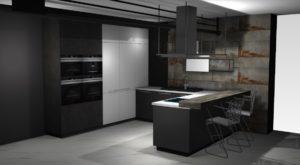 Szara Kuchnia Loftowa Nolte Metal Home Concept 1