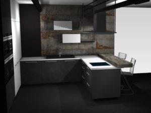 Nowoczesna Kuchnia Loftowa Nolte Metal Home Concept 2
