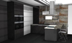 Grafitowa Kuchnia Loftowa Nolte Metal Home Concept 3