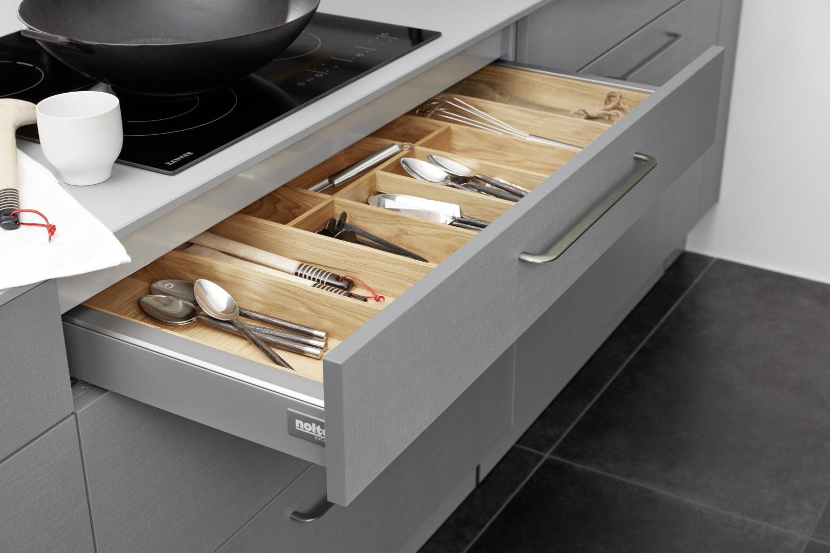 Szara kuchnia Vida Nolte Kuchen - szuflada
